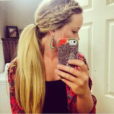 Ponytail with a braided twist? Yes please.