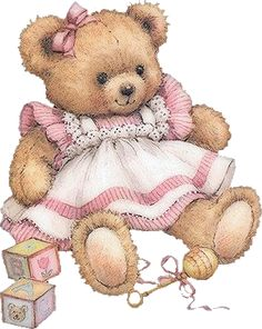 Teddy girl in a pink dress Illustration by Ruth Morehead Tatty Teddy, Bear Images, Teddy Bear Pictures, 2 Clipart, Cute Clipart, Bear Clipart, Baby Teddy Bear, Cute Teddy Bears, Teddy Girl
