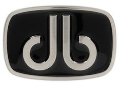 DB Giant Oval Black Buckle by Druh Belts.  Buy it @ ReadyGolf.com