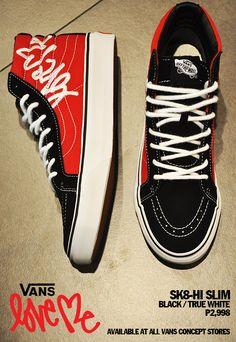 076fa40bb54d Love Me x Vans Sk8-Hi Slim Available at Vans Concept Stores! Vans Sk8