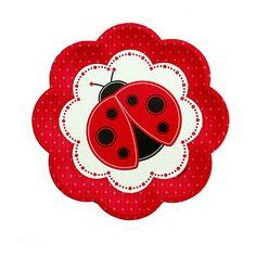 Modern Ladybug - Birthday Party Dessert Plates - 8 ct | BigDotOfHappiness.com