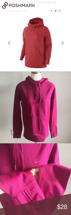 Nike Long Sleeve Therma Fit All Time Hoodie Women's. Like new! Worn once!! Great condition! Raspberry-Plum Color. Nike Tops Sweatshirts & Hoodies