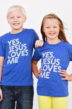 1a23fc280a Yes Jesus Loves Me Blue Youth Tee  Sold out  Yes Jesus Loves Me