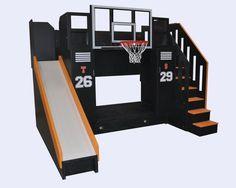 the ultimate basketball bunk bed backboard slide and more - Bett Backboard Ideen