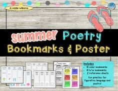 Fun way to finish up a poetry unit or as an end of the year activity. ($)