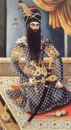 """Fath Ali Shah Qajar (Kadjar) """"Baba Khan"""" (b. 1185/1770-71--d. 1250/Oct. 1834) (r. 1797-1834)"""