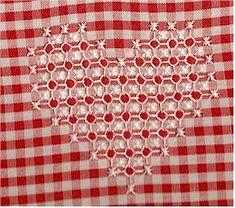 Heart broderie suisse design