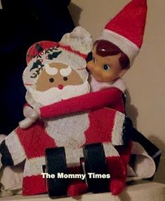 Just in case your kids don't believe that the Elf on a shelf reports to Santa... Proof!