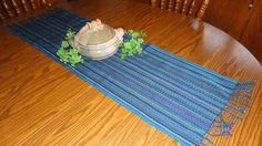 Woven Table Runner Textile Turquoise Aqua Blues and by TheFairLine, $42.00  Fair Trade, Handwoven Table Runner in turquoise, blues, greens, purple and black. What a beautiful example of a high quality handwoven textile.  A stunning gift to give as a wedding gift or housewarming gift. Your friends and family will love this beautiful textile -- it is our most popular woven table runner.