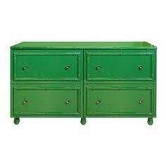 Emma Lacquer Bamboo 4 Drawer Dresser #worldsaway #design #interiors #homedecor #interiorhomescapes #interiorhomescapes.com