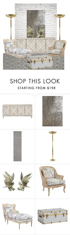 """Fighting Roosters On A Sideboard Interior Design"" by lua4lma ❤ liked on Polyvore featuring interior, interiors, interior design, home, home decor, interior decorating, Anthropologie, Safavieh and PBteen"