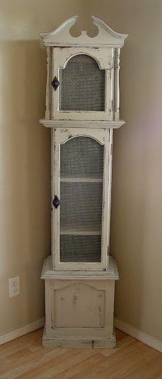 Grandfather clock shelf. Love this!!! RePinned By: *Doniele Disney* www.poppiespaintpowder.com