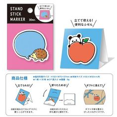 cute sticky note memo Note Pad with stand from Japan  2