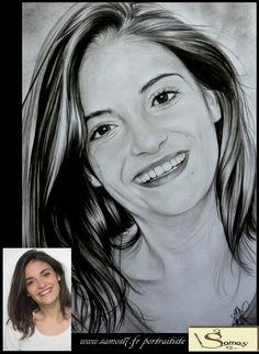 """actrice sabrina """"eleonore sarrazin"""" dessin au crayon réaliste, portrait #drawing #pblv retrouvez toutes les photos avec les acteurs sur www.samos17.fr, ainsi que la vidéo de la remise des portraits"""