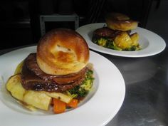 Harveys Roast Beef with all the trimmings ready to be served! @thecellarhouse