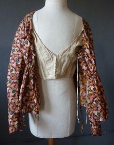 Hand Block Short gown c1810