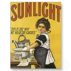 Sunlight Soap Vintage Art Post Cards by postershoppe