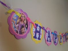 Hey, I found this really awesome Etsy listing at https://www.etsy.com/listing/120019400/rapunzel-happy-birthday-banner