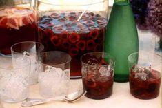 Cherry Vodka Limeade aka Cherry Mojitos by Martha Stewart Cherry Vodka, Mojito Recipe, Cherry Recipes, Refreshing Drinks, Martha Stewart, Punch, Beverages, Cocktails, Dark