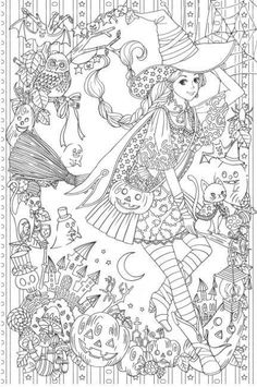 Language : Japanese / 28 x 21 x cm Published : September 25 2017 *Condition :New Introduction I wanted to wear it because it is good at once, it became a gorgeous coloring painting of the longing beautiful clothes Beautiful clothes are alw Coloring Book Pages, Printable Coloring Pages, Coloring Sheets, Coloring Pages For Grown Ups, Kids Coloring, Halloween Mandala, Halloween Coloring Pages, Colorful Drawings, Halloween Crafts