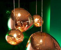 The New Lava Lamp - Melt Pendant Light by Tom Dixon Copper Pendant Lights, Pendant Lamp, Pendant Lighting, Blown Glass Pendant Light, Industrial Lighting, Mini Pendant, Gold Pendant, Modern Lighting, Tom Dixon Lampe
