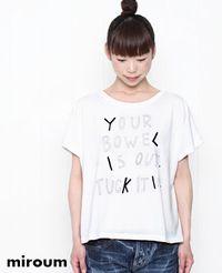 miroum[ミロウム] ロゴ Tシャツ 2色