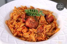 Κριθαρότο με χωριάτικο λουκάνικο και παρμεζάνα   Cookstory.gr Meat, Chicken, Cooking, Food, Kitchen, Essen, Meals, Yemek, Brewing