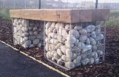 Stone filled Gabion Baskets by Jane's Pond Ltd, via Flickr