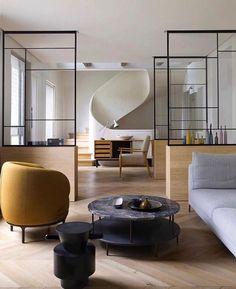 Interior Design Addict: Mid-week Parisian magic ✨ (design by #KarineLewkowicsz via @kellybehunstudio) #ALTforLiving | Interior Design Addict