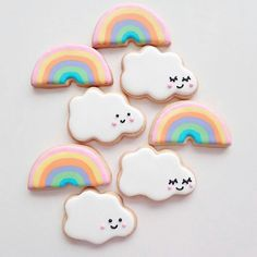 """culturenlifestyle: """"Colorful Sweets Resemble Adorable Cartoon Confections Passionate baker Tmaiya is a self-proclaimed lover of all things pretty, sweet, cute and colorful. She shares her irresistibly cute creations of cookies, cakes, donuts and. Hello Kitty Birthday, Unicorn Birthday Parties, Unicorn Party, Sugar Cookie Icing, Sugar Cookies, Kawaii Cookies, Rainbow Treats, Unicorn Cookies, Decorated Cookies"""