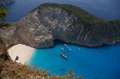 Breathtaking.  #sebastus #Greece #ocean #boats #mountain