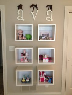 Adorable Toddler Room Tour.  Hanging Cubes.    From SquashBlossomBabies