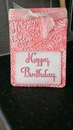 Mini Embossed Birthday Card