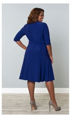 Kiyonna Essential Wrap Dress sizes 10+ | Wrap dresses
