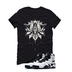 Nike Air Max 2 Uptempo 94 'White & Black' Black T (LOTUS) Nike Kyrie 3, Nike Air Max 2, Matching Shirts, Custom T, Lotus, Street Wear, Marble, Mens Tops, T Shirt