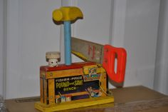 Vintage 1965 Fisher Price POUND and SAW BENCH.