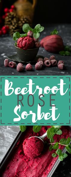 This summer, if all other sorbets have tired you, refresh yourself with this fragrant Rose Beetroot Sorbet. Vegan Dessert Recipes, Healthy Desserts, Real Food Recipes, Delicious Desserts, Vegan Sweets, Healthy Drinks, Frozen Desserts, Frozen Treats, Summer Desserts