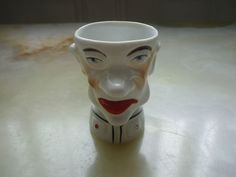 ANTIQUE GERMAN PORCELAIN  EGG CUP