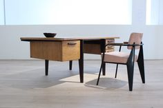 desk and chair mid-century