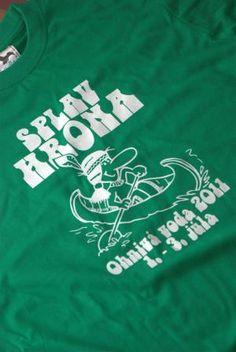 Zelené tričká s potlačou Splav Hrona