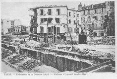 1871.Commune de Paris bombardements  à Auteuil