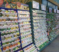 A plethora of seeds to chose from! Garden Center Displays, Garden Centre, Garden Club, Garden Shop, Garden Tips, Garden Ideas, Seed Catalogs, Nature Activities, Garden Supplies