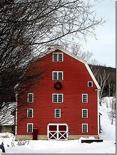 I always wanted to get an old barn and redo it to be my home like they do on HGTV!  And it would HAVE to be RED!