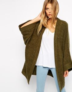 ASOS Cardigan With Kimono Sleeve http://asos.to/1phxgwL