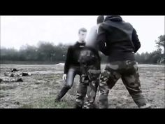 Close combat demonstration of French 13th Parachute Dragoon Regiment