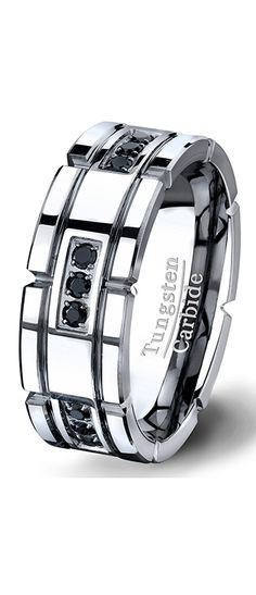 7b99f7daebbba 13 Best Tungsten Rings with Stones images in 2015 | Men wedding ...