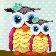 Link to crochet pattern Owl Crochet Patterns, Crochet Birds, Owl Patterns, Cute Crochet, Amigurumi Patterns, Crochet Animals, Crochet For Kids, Crochet Crafts, Crochet Projects
