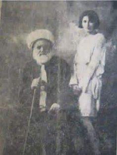 الشاعر عبد المحسن الكاظمي وابنته رباب