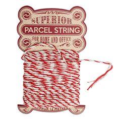 Stripey Red Parcel String