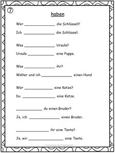 German Verbs - fill in the blanks.